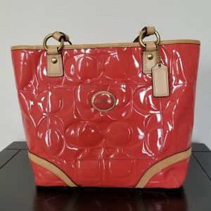 Coach Purse Orange Peach